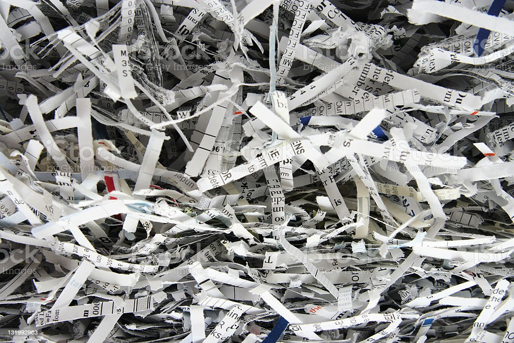 Shredded paper background royalty-free stock photo