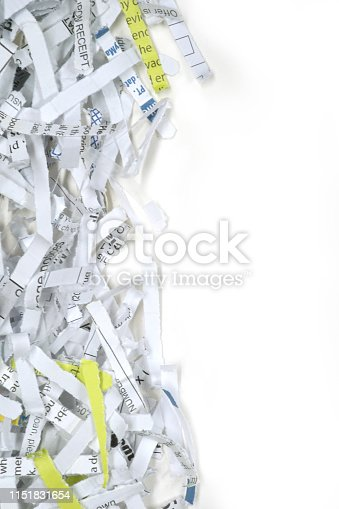 close up shot of shredded paper