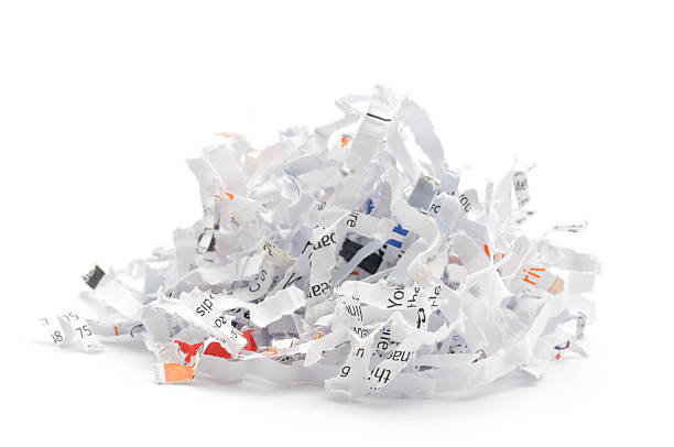 shredded paper - shredded paper stock photos and pictures