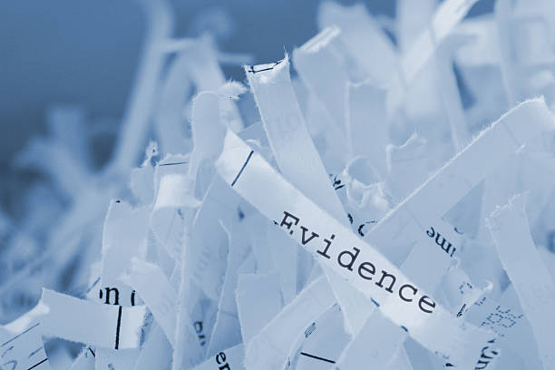 Shredded Paper stock photo