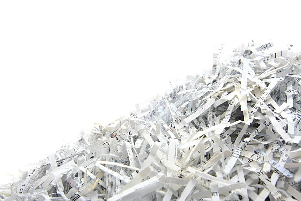 shredded paper with copyspace - shredded paper stock photos and pictures