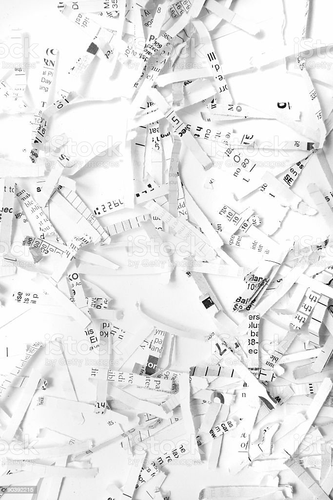 Shredded pieces royalty-free stock photo