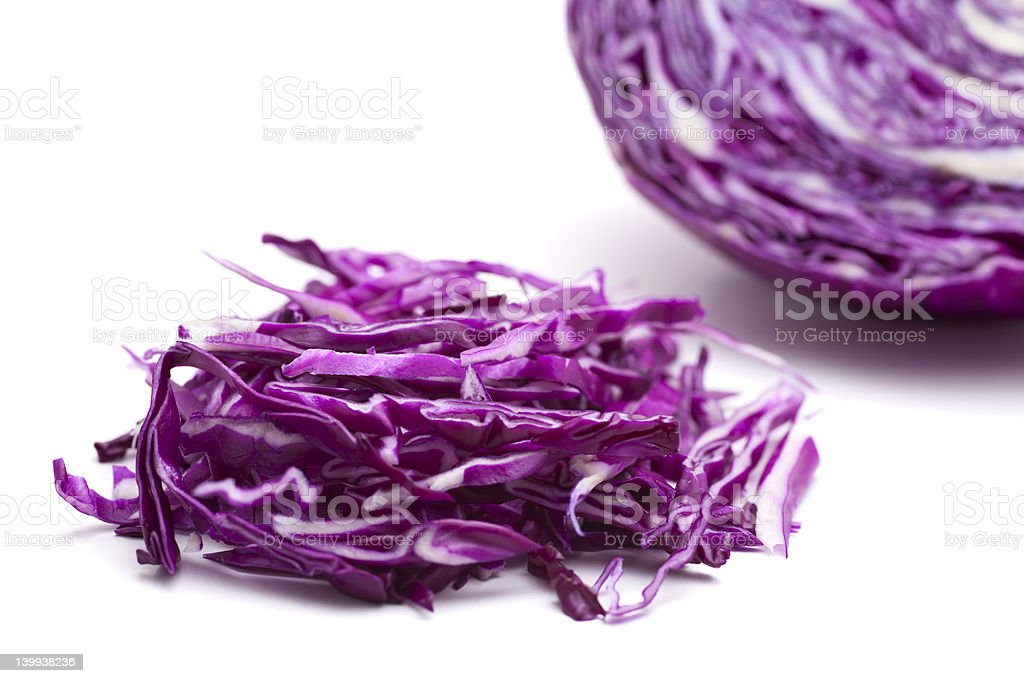 Shredded red cabbage royalty-free stock photo