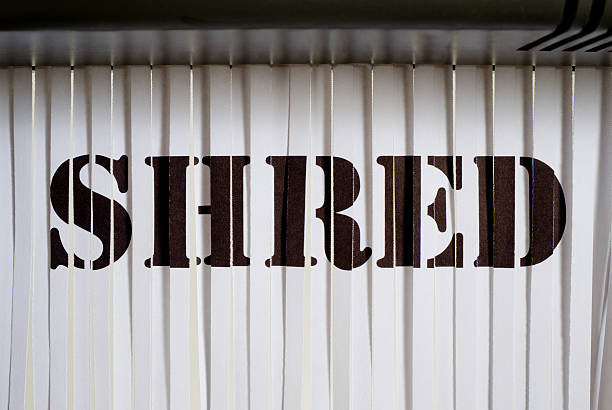 shredded shred - shredded paper stock photos and pictures