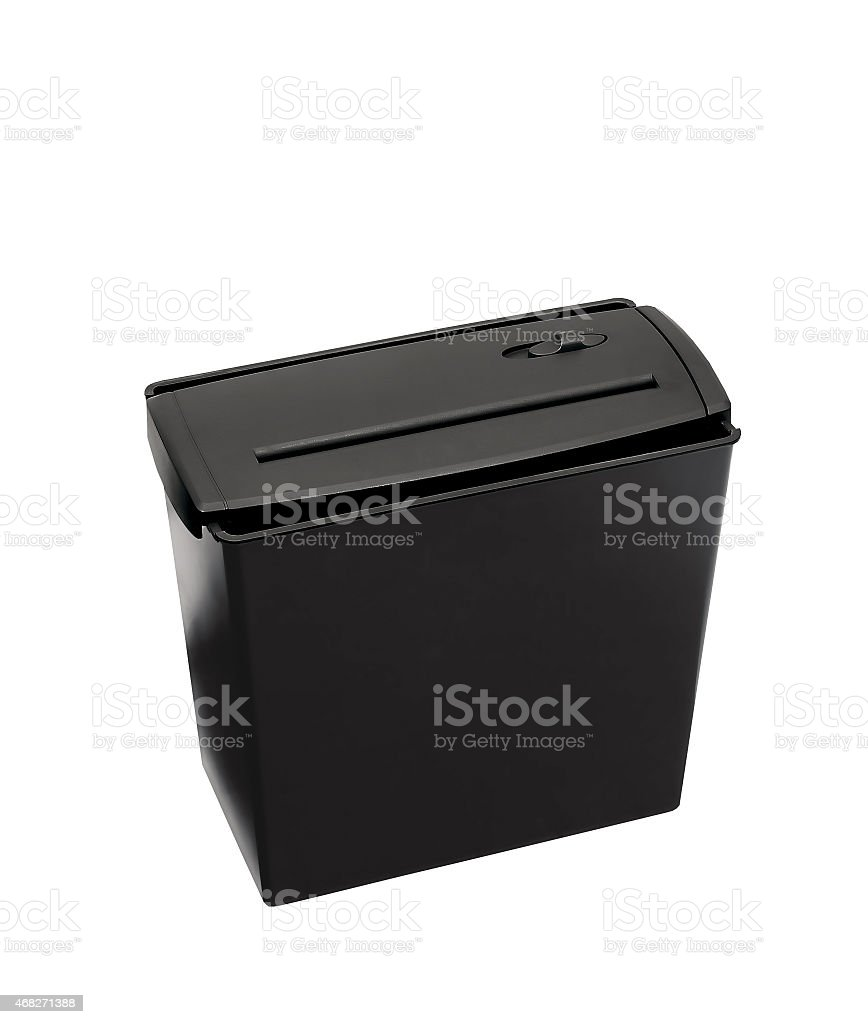 Shredder isolated against a white background stock photo