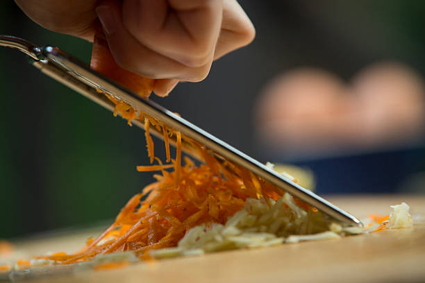 Shredding Carrots stock photo