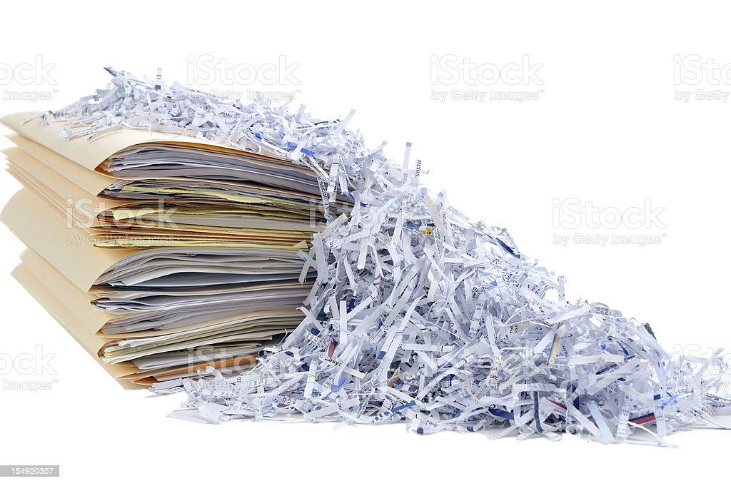 Shredding Documents royalty-free stock photo