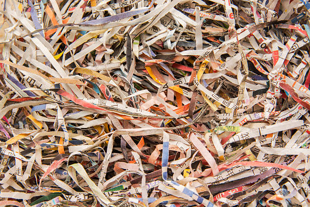 shredding paper - shredded paper stock photos and pictures