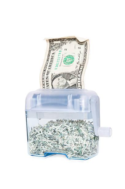 Shredding Your Money - $1 stock photo