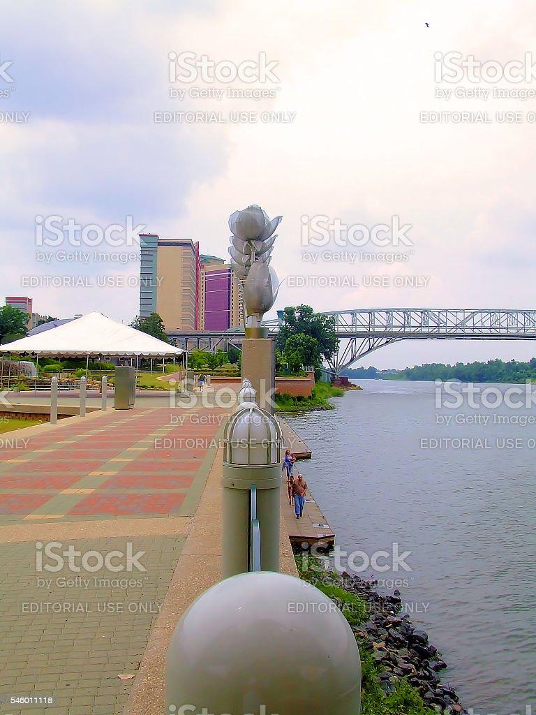 Shreveport Riverfront Park stock photo