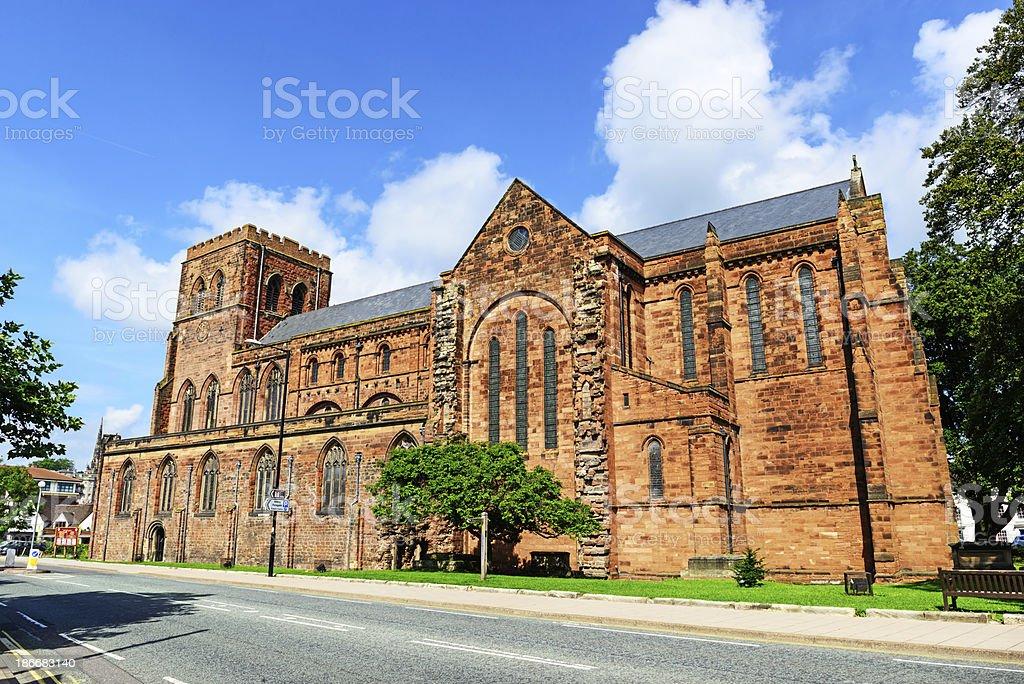 Shrewsbury Abbey royalty-free stock photo