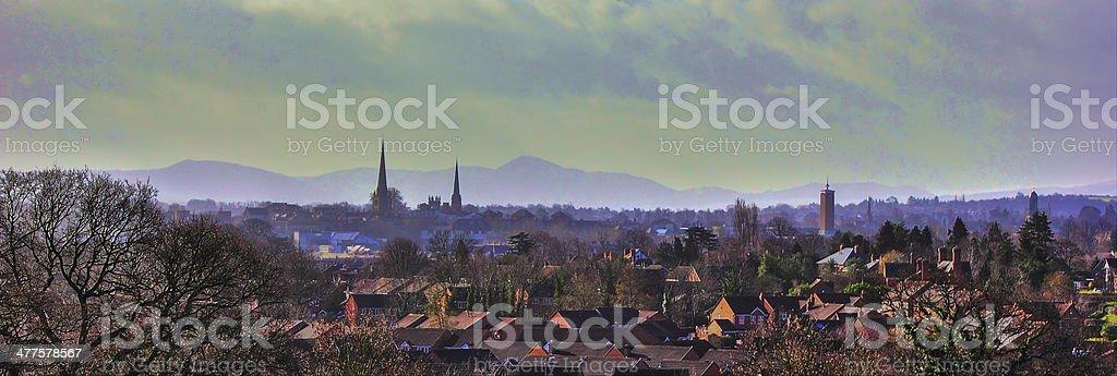 Shrewsbury in Shropshire stock photo