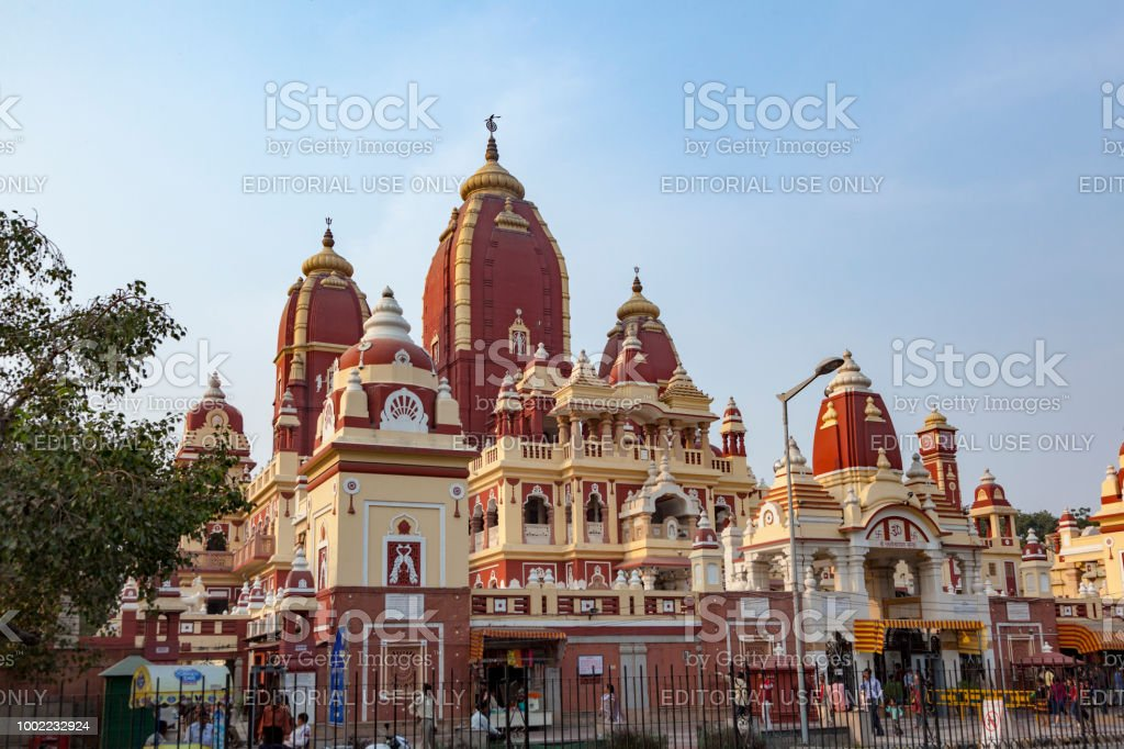 Shri Digambar Jain Lal Mandir Temple In Delhi Stock Photo ...