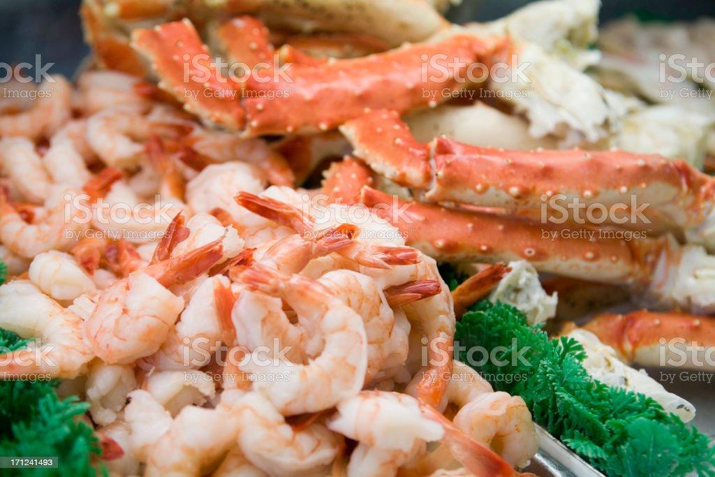 Shrimp and Crab royalty-free stock photo