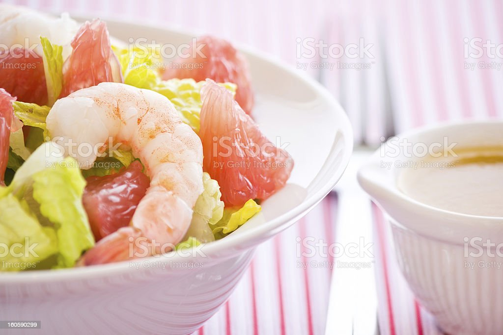 Shrimp and Grapefruit Salad royalty-free stock photo