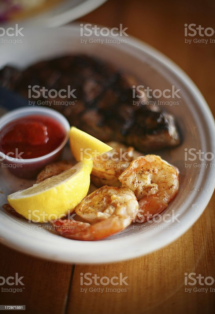 shrimp and meat royalty-free stock photo