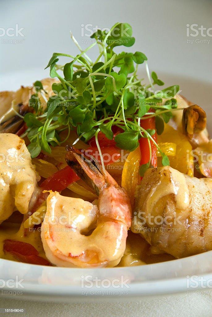 Shrimp and Monkfish royalty-free stock photo