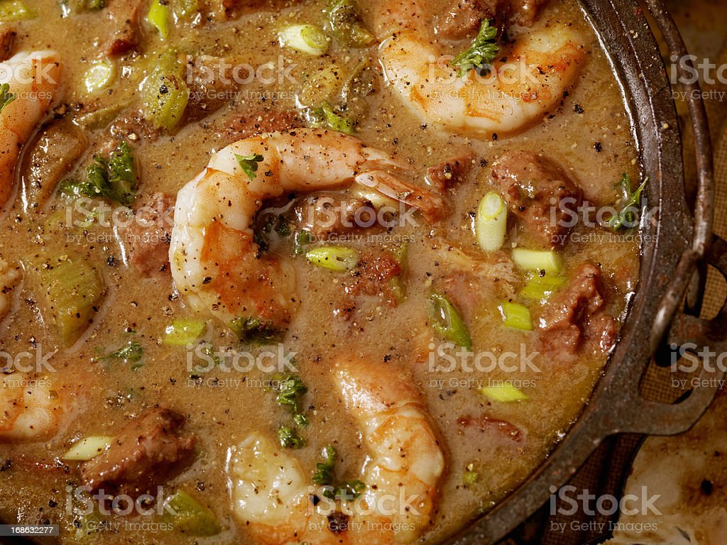 Shrimp and Sausage Gumbo royalty-free stock photo