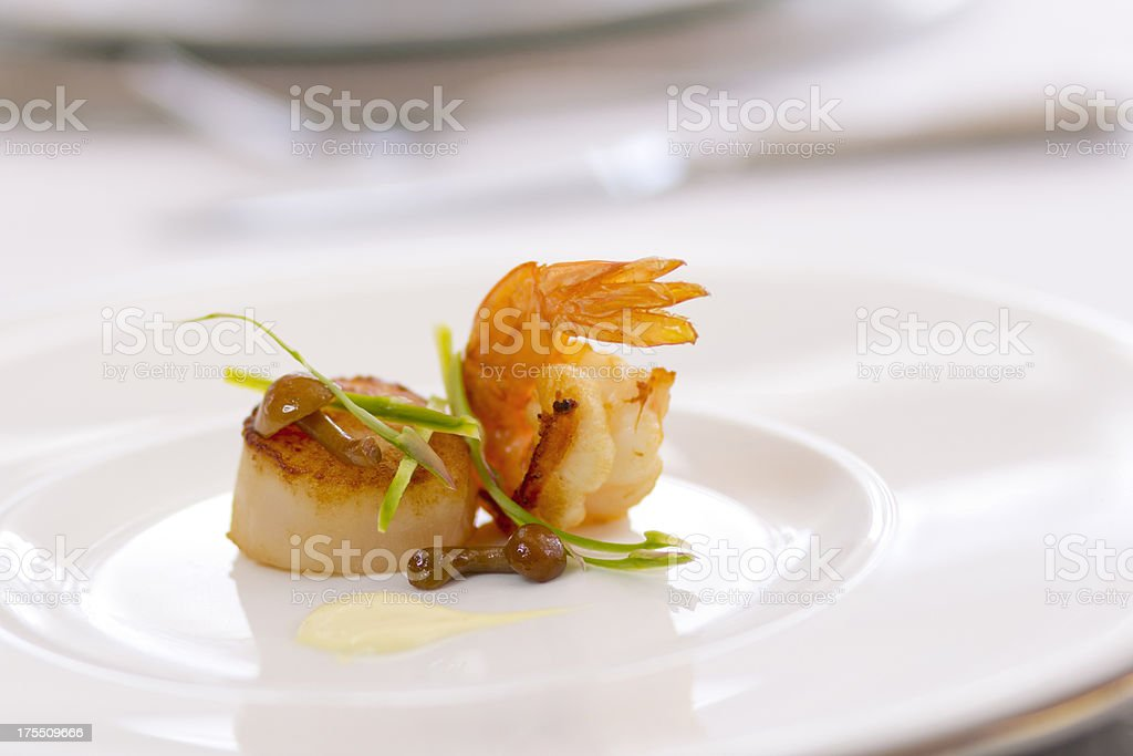 Shrimp and Scallop Appetizer stock photo