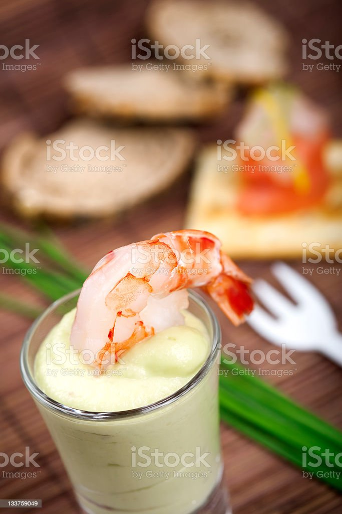 Shrimp appetizer royalty-free stock photo