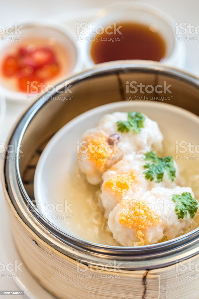 Shrimp Ball Fish Maw stock photo