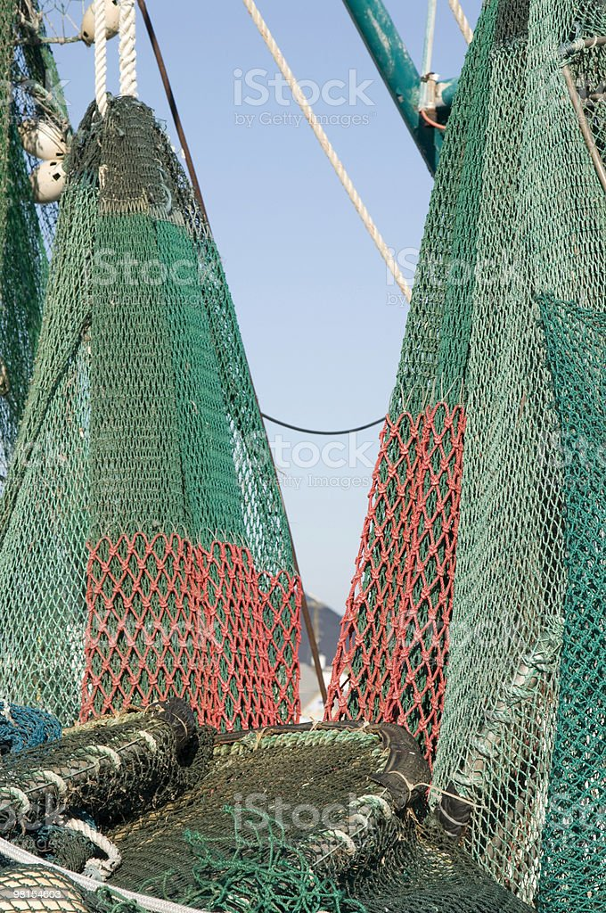 Shrimp Boat Nets royalty-free stock photo