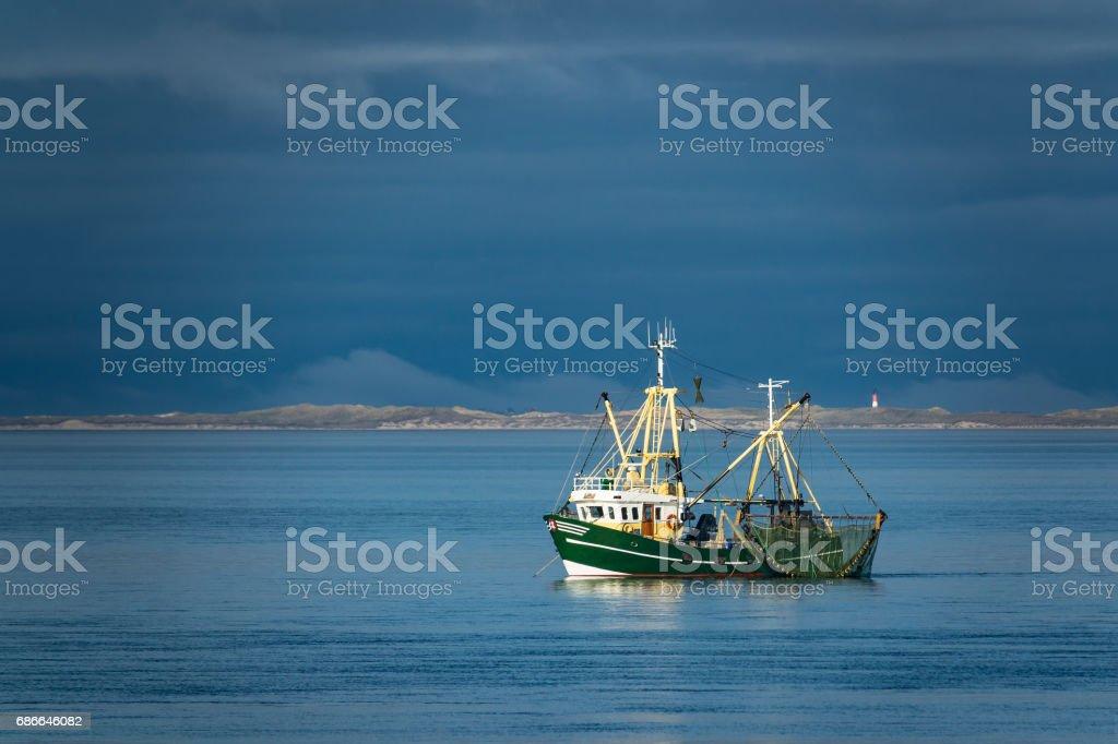 Shrimp boat on the North Sea, Germany Lizenzfreies stock-foto