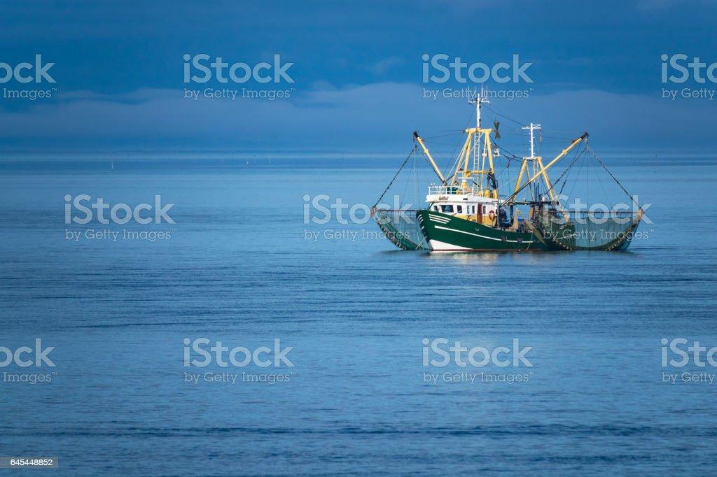 Garnelen-Boot an der Nordsee – Foto