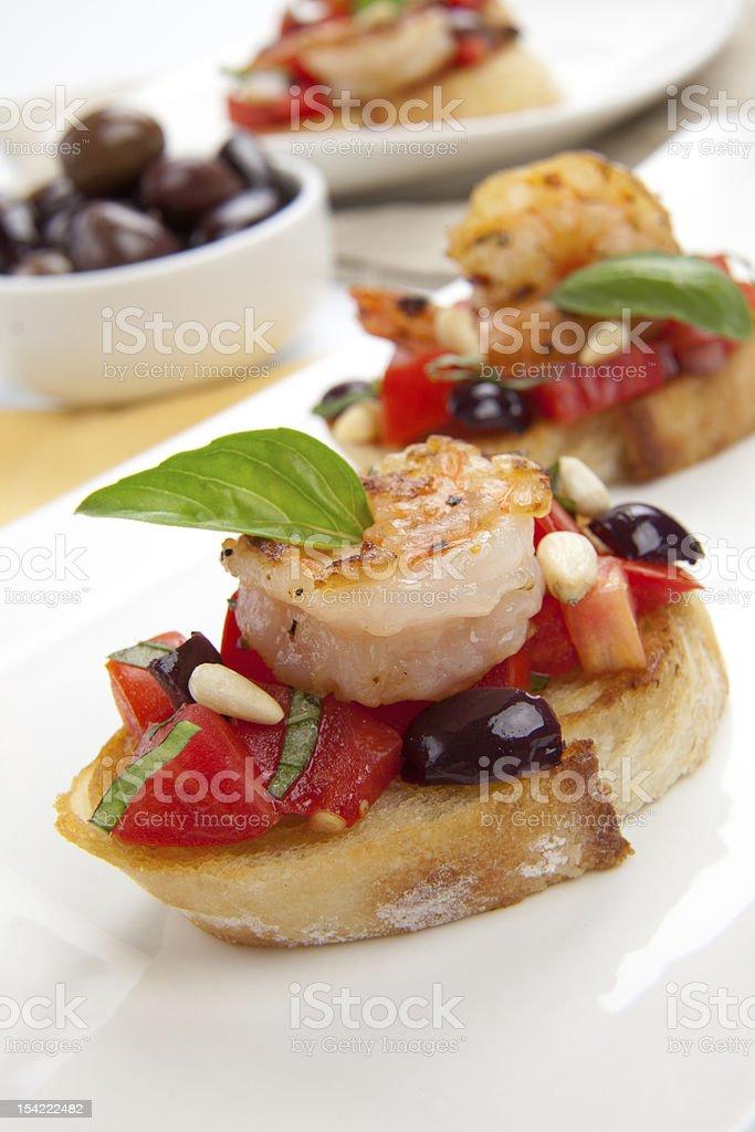 Shrimp Bruschetta royalty-free stock photo