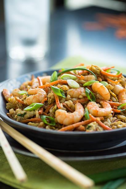 Shrimp Chop Suey stock photo