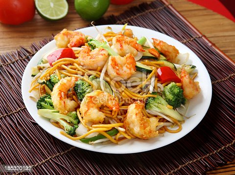 Chinese Style Noodle - Shrimp & Broccoli Chow mein