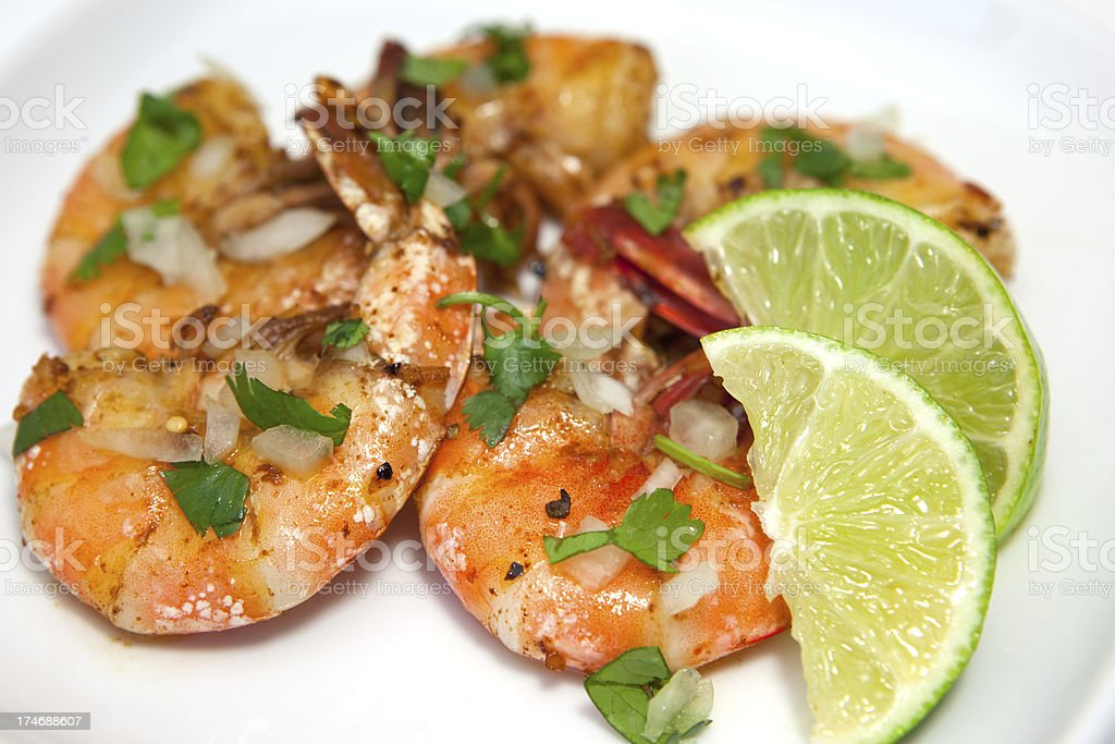 Shrimp Close-up view royalty-free stock photo