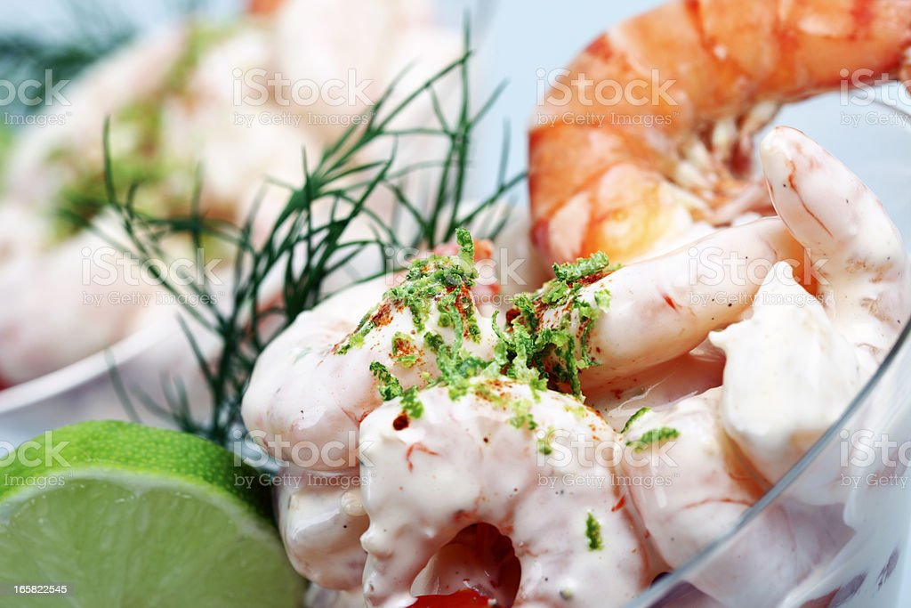 Shrimp Cocktail Close-up royalty-free stock photo