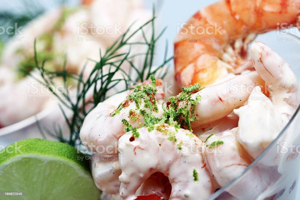 Shrimp Cocktail Close-up stock photo