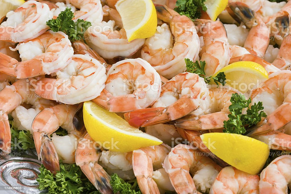 Shrimp Cocktail Food Platter stock photo
