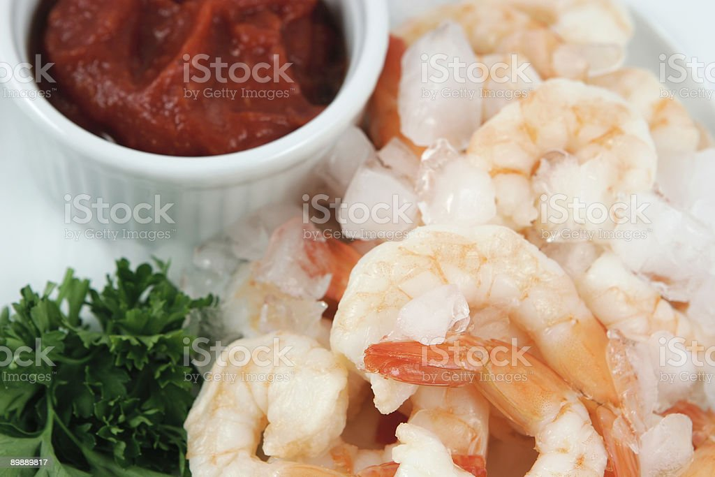 shrimp cocktail on ice royalty-free stock photo