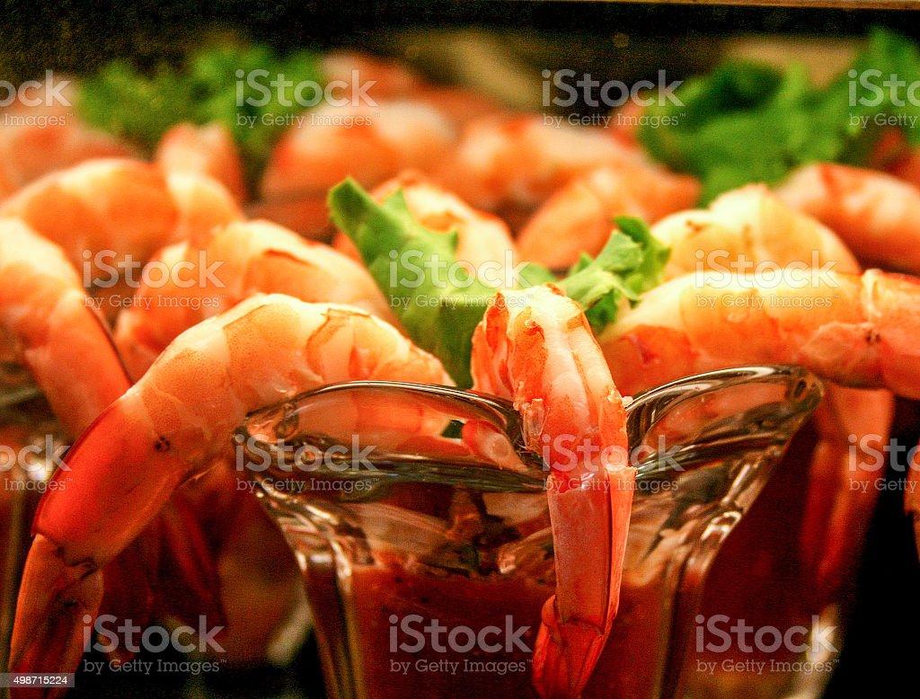 Cóctel de camarones - foto de stock