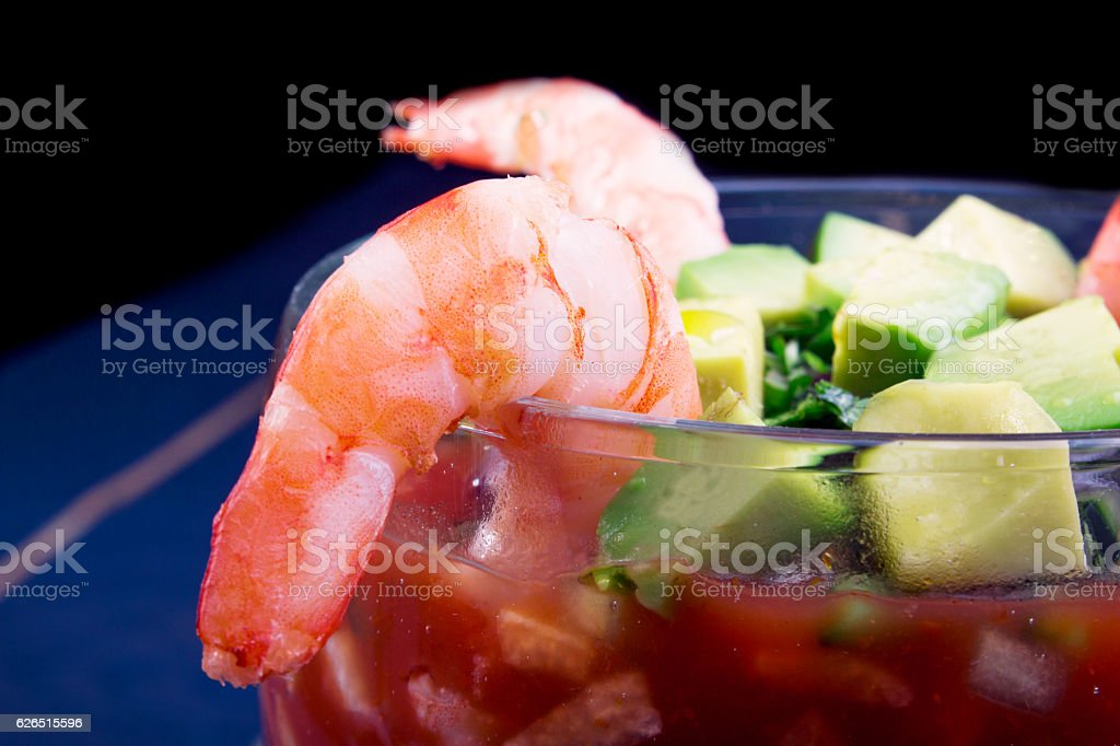 coctel de camaron stock photo