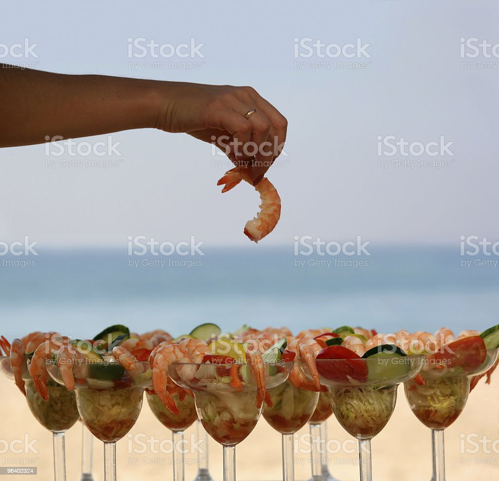 Shrimp cocktail - Royalty-free Adult Stock Photo