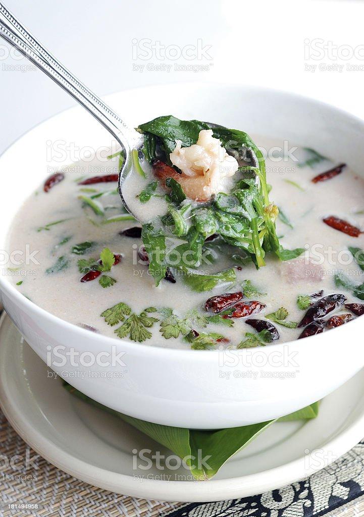 shrimp coconut milk soup royalty-free stock photo