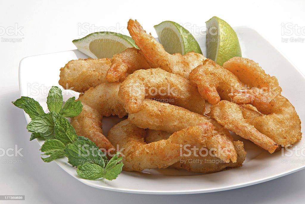 shrimp deep fried royalty-free stock photo