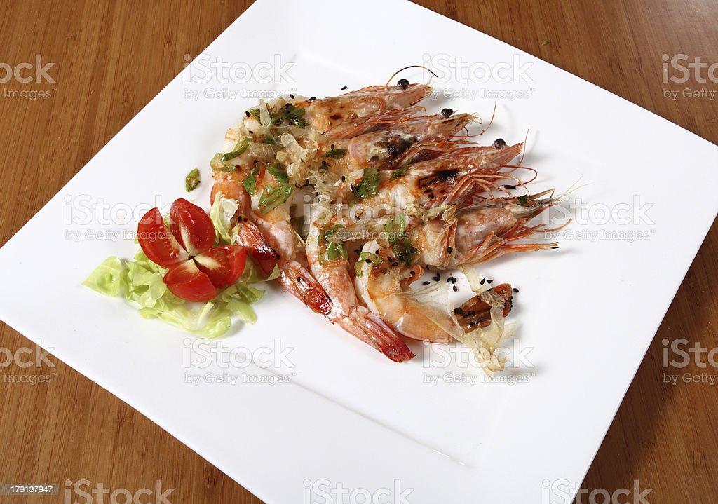 shrimp dish cooked royalty-free stock photo