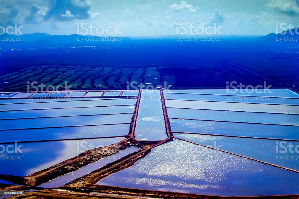 Shrimp farm stock photo