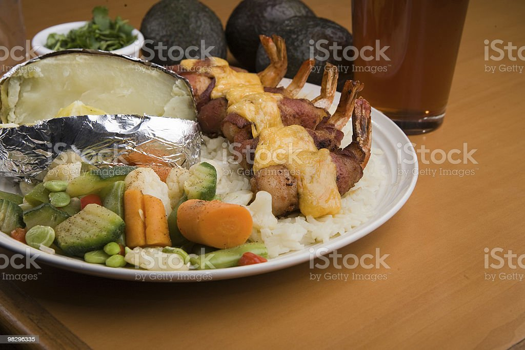 Shrimp Fiesta and Vegetables royalty-free stock photo
