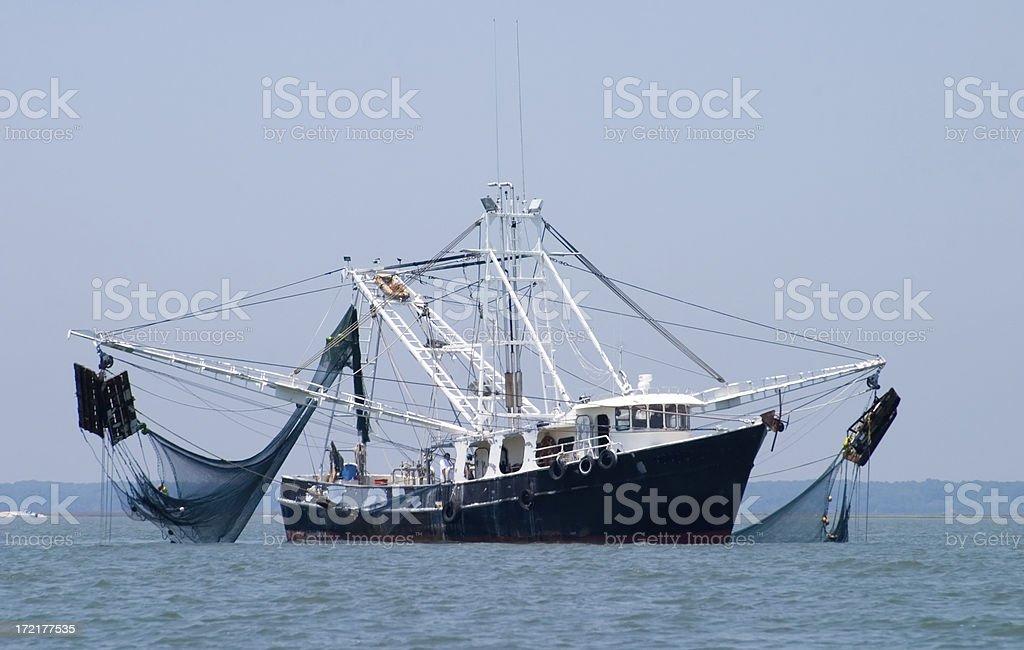 Shrimp Fishing Boat stock photo