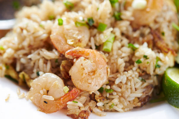 Shrimp fried rice Shrimp fried rice fried rice stock pictures, royalty-free photos & images
