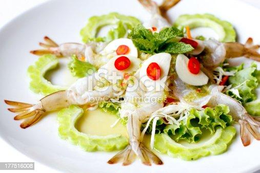 Close-up shot of shrimp in fish sauce