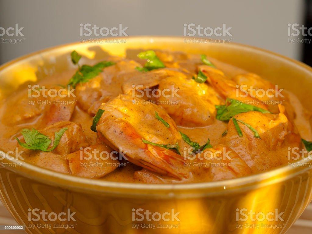 Shrimp Korma foto de stock royalty-free
