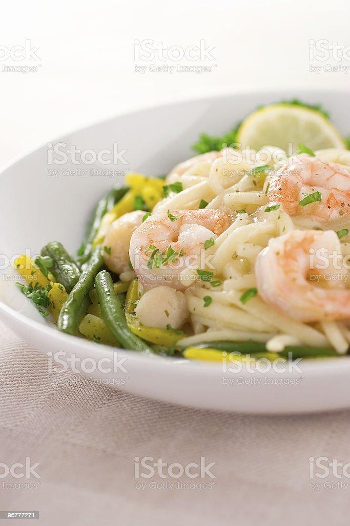 Shrimp Linguini royalty-free stock photo
