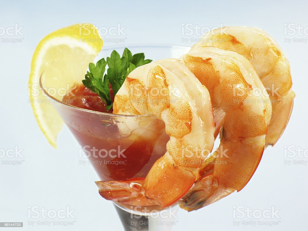 Shrimp Martini Cocktail stock photo